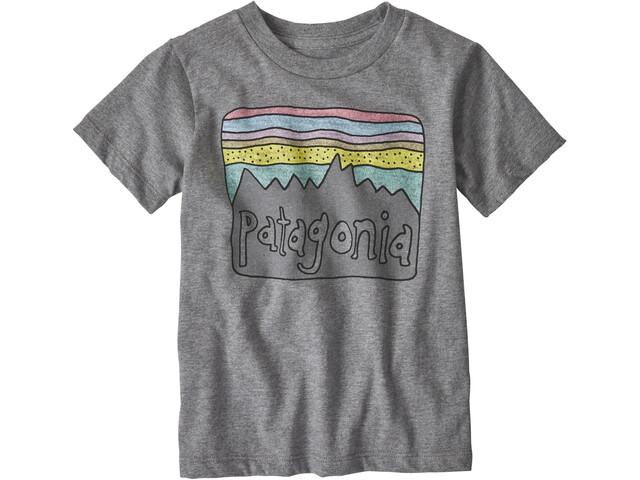 Patagonia Fitz Roy Skies Organic Camiseta Niños, gris